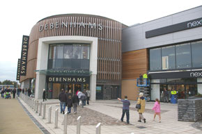 The north entrance to Debenhams