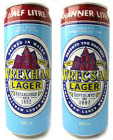 Wrexham Lager Cans