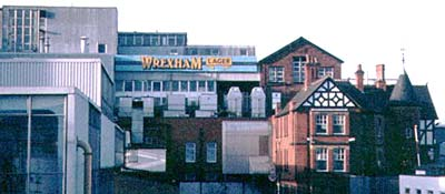 Wrexham Lager brewery just before demolition commenced